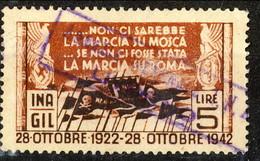 Erinnofili, Italia 1942, GIL INA Lire 5, La Marcia Su Mosca - Zonder Classificatie