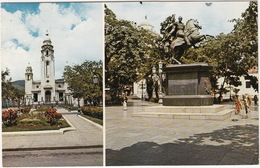 Caracas: Statue Of SIMON BOLIVAR, The Liberator And The Pantheon Of The Heroes -  Venezuela (+ 45 C. Barbados Stamp) - Venezuela