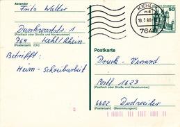 """Bund, Postkarte P 126 Von """"KEHL 1"""" (ak0242) - Postkarten - Gebraucht"""