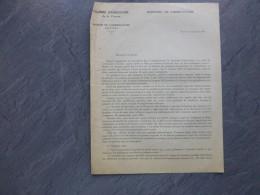 POITIERS 1933 Lutte Contre DORYPHORE, Chambre D'agriculture (Xavier Bernard),  ; Ref 332 VP 26 - Historische Documenten