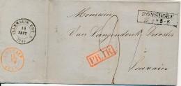 Précurseur Avec Contenu - Ronsdorf 12-9 PR1R Via Allemagne Est 15 SEPT 1854 Vers Louvain 13 SEPT 1854 - Facture Textile - 1830-1849 (Independent Belgium)