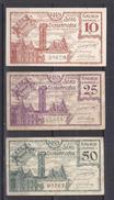 Stad Dendermonde 1918  NOODGELD 10 Cent + 25 Cent + 50 Cent  Zeer Fraaie Staat Tot Nieuwstaat - [ 3] German Occupation Of Belgium