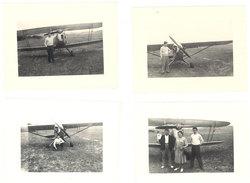 4 Photos Aviation, Biplan, Monoplan - Aviation