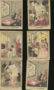 LOT  DE 8 GRAVURES. LE CINEMA    .LA PHOSPHATINE FALIERES - Vieux Papiers