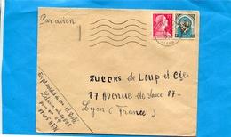 MARCOPHILIE-guerre D'algérie-Lettre  Avion  -cad Cherchel  -SP 8405-afft 20frs= 15frs Muller +5frs Alger - Marcophilie (Lettres)