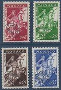 """MONACO 1960  Préoblitérés """"cavalier""""  4 Val N°  YT Préo 19-22  ** MNH - VorausGebrauchte"""