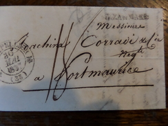 Lot Du 01.04.17_belle Lettre De Montpellier Pour Port Maurice ,voir Verso!! A Voir!! - 1801-1848: Precursors XIX