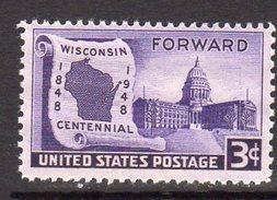 USA 1948 Wisconsin Centenary, MNH (SG 954) - United States