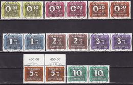 ÖSTERREICH PORTO 1985  ANK 260-267 USED PAAR - Strafport