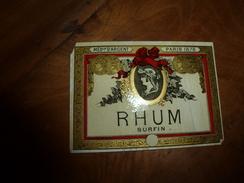 1878 Paris, Médaille D'Argent (étiquette De Bouteille De RHUM Surfin) Réalisation  Du Dessin VICTOR PALYART & Fils - Rhum