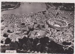 Arles,bouches-du-rhone,13,camargue,carte Photo GREFF ET R HENRARD PILOTE ET PHOTOGRAPHE AERIEN,ARENES,THEATRE ANTIQUE - Arles