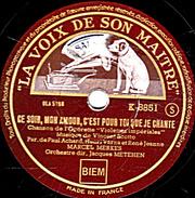 78 T - 25 Cm.- état TB -   MARCEL MERKES - CE SOIR, MON AMOUR, C'EST POU TOI QUE JE CHANTE - SI TU VOYAIS - 78 T - Disques Pour Gramophone