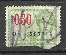 BELGIEN Belgium Revenue Tax Steuermarke O - Revenue Stamps