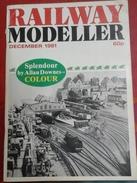 Trains Électriques Modélisme Ferroviaire Railway Modeller Décembre 1981 - Boeken, Tijdschriften, Stripverhalen