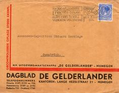 1934 Firmaenvelop Dagblad De Gelderlander Van NIJMEGEN Naar Osnabrück - Poststempels/ Marcofilie