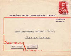 1944 Firmaenvelop BARNEVELDSCHE COURANT Van Barneveld Naar Wageningen - Marcophilie