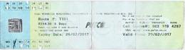 2017 - Ticket Autobus - PUTCO -  Pretoria -  South Africa - Bus