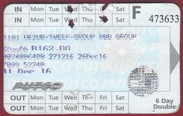 2016 - Ticket Autobus - PUTCO -  Pretoria -  South Africa - Bus