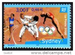 France Jeux Olympiques N° 3341** SYDNEY ->  Judo - Course Relais - Plongeon - Anneaux - Zomer 2000: Sydney