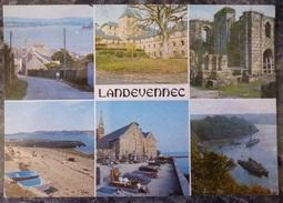 LANDEVENNEC (29).  MULTIVUES .NON CIRCULE.  ANNEES 1980. - Landévennec