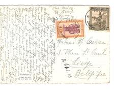 Belgisch Congo Belge TP 262-285 S/CP Avion C.Irumu 2/2/1949 V.Liège PR4325 - Poste Aérienne: Lettres