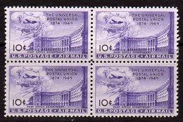USA 1949 UPU Airmails 10c Value Block Of 4, MNH (SG A984) - United States