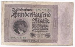 GERMANY - 100 000 MARK - 1.02.1923 -  BEAU - PICK 83 - [ 3] 1918-1933 : República De Weimar