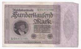 GERMANY - 100 000 MARK - 1.02.1923 -  TRES TRES BEAU - PICK 83 A - [ 3] 1918-1933 : República De Weimar