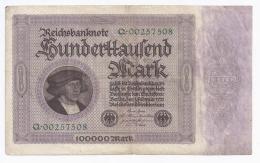 GERMANY - 100 000 MARK - 1.02.1923 -  TRES BEAU - PICK 83 A - [ 3] 1918-1933 : República De Weimar