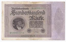 GERMANY - 100 000 MARK - 1.02.1923 -  BEAU A TRES BEAU - PICK 83 A - [ 3] 1918-1933 : República De Weimar