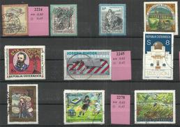 """Österreich 2212,2228,2224,2231,2228,2245,2247,2271,2278,2288 """"10 Briefmarken A.Jahrgang 1997-99"""" Gestempelt. Mi.:6,20 &e - 1945-.... 2nd Republic"""