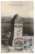 """Carte Postale VERDUN """" Borne Commémorative De La Voie Sacréé """" - Verdun"""