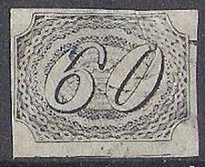 Olho De Cabra 1844: 60 REIS - Michel# 6 With Almost Invisible Postmark - Oblitérés