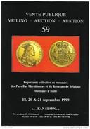 Catalogue Vente Publique 59 J. ELSEN Septembre 1999 - Pays-Bas Méridionaux, Royaume De Belgique, Monnaies D'Italie - Libros & Software