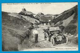 CPA Années 1900, Automobile à Identifer Dans La Descente De L' Observatoire Du Puy De Dôme. Cliché PLAZANET - Voitures De Tourisme