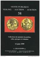 Catalogue Vente Publique 58 J. ELSEN Juin 1999 - Monnaies Byzantines, Celtes, Grecques Et Romaines - Libros & Software