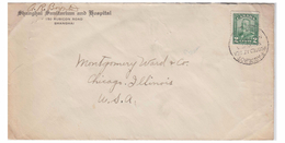 CANADA -- POSTE MARITIME -- LETTRE DE CHINE POUR LES USA --1913 -- - Postal History