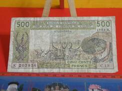 Monnaies & Billets > Billets > États D'Afrique De L'Ouest > Banque Centrale Des États, 500 Francs - West African States