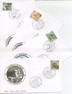 ITALIA - FDC  ROMA LUXOR 1994 - I CASTELLI - BOSA - BARI - CERRO AL VOLTURNO - MONDAVIO - ANNULLI SPECIALI - F.D.C.