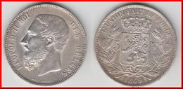 **** BELGIQUE - BELGIUM - BELGIE - 5 FRANCS 1869 LEOPOLD II - ARGENT - SILVER **** EN ACHAT IMMEDIAT - 09. 5 Francs