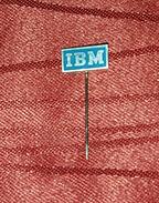 IBM- ORIGINAL VINTAGE PIN BADGE - Computers