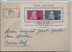 IMABA 1948 Basel Block Bloc 13 W31 - Stempel: 24. VIII. 48 - Blocs & Feuillets