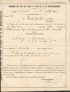 Avis De Mise En Instance De Deux Colis D'absinthe En Gare De Marseille Pour Défait De Paiement De Livraison à Domicile - Marcophilie (Lettres)