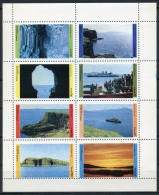 Staffa, Scotland, Landscapes, Scenery, MNH Perforated Cinderella Sheet - Non Classés