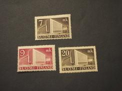 FINLANDIA - 1943/5 EDIFICI 3 VALORI - NUOVI(++) - Finlandia
