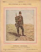 GUERRE DE 1870-1871 - PROTEGE CAHIER - RECITS PATRIOTIQUES - L'ARMEE ALLEMANDE - CHASSEUR A PIED DE LA GARDE IMPERIALE. - Protège-cahiers
