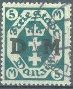 DANZIG - 1922 - USED/OBLIT.  - Mi 30Y Wz 3Y - Lot 15322 - Dantzig