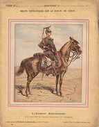 GUERRE DE 1870-1871 - PROTEGE CAHIER - RECITS PATRIOTIQUES - L'ARMEE ALLEMANDE - SOUS OFFICIER DE UHLANS PRUSSIENS 2e RE - Protège-cahiers