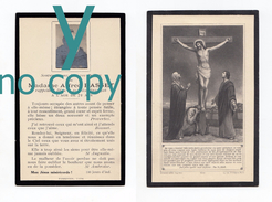 Lyon Ou Environs, Mémento De Mme Alfred Basset, 20/02/1916, 72 Ans, Souvenir Mortuaire à Localiser - Images Religieuses