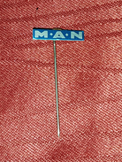 MAN, TRUCK & BUS- ORIGINAL VINTAGE PIN BADGE - Badges